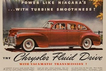 Chrysler Car Ads / Chrysler was founded by Walter Chrysler on June 6, 1925, when the Maxwell Motor Co (est. 1904) was re-organized into the Chrysler Corp. Chrysler had originally arrived at the ailing Maxwell-Chalmers company in the early 1920s, having been hired to take over and overhaul the company's troubled operations (just after a similar rescue job at Willys).  In late 1923 production of the Chalmers automobile was ended. See my other boards for Imperial, Chrysler 300, Dodge, Plymouth, DeSoto.