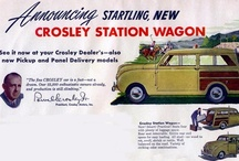 Crosley Car Ads / The Crosley was an automobile manufactured by the Crosley Corporation and later by Crosley Motors Incorporated in the United States intermittently from 1939 to 1952. Industrialist Powel Crosley, Jr., of Cincinnati, Ohio, owner of Crosley Broadcasting Corporation and the Cincinnati Reds baseball team, had ambitious plans to build a subcompact car and with the able assistance of his younger, graduate engineer brother Lewis Crosley, developed assembly plants at Richmond, Indiana, and Marion, Ind.