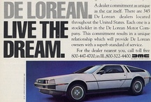 "DeLorean Car Ads / The DeLorean DMC-12 (commonly referred to simply as The DeLorean as it was the only model ever produced by the company) is a sports car manufactured by John DeLorean's DeLorean Motor Company for the American market in 1981–82. Featuring gull-wing doors with a fiberglass ""underbody"", to which non-structural brushed stainless steel panels are affixed, the car became iconic for the appearance of a modified version as a time machine in the Back to the Future film trilogy."
