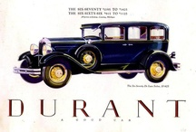 Durant Car Ads / Durant Motors Inc. was established in 1921 by former General Motors CEO William Crapo Durant (also known as Billy Durant) following his termination by the GM Board of Directors and the New York bankers.