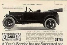 Chandler Car Ads / The Chandler Motor Company produced automobiles in the United States of America during the 1910s and 1920s.