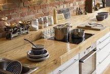 kitchens - white & wood