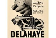 Delahaye Car Ads / Delahaye automobile manufacturing company was started by Emile Delahaye in 1894, in Tours, France. His first cars were belt-driven, with single- or twin-cylinder engines. In 1900, Delahaye left the company. In 1954, Delahaye was taken over by Hotchkiss, who shut down car production and, after producing trucks with the Hotchkiss-Delahaye nameplate. The combined firm was eventually taken over itself by Brandt, and in 1956, the Delahaye name disappeared.