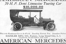 American Mercedes Automobile Car Ads / The American Mercedes was made by Daimler Manufacturing Co. of Long Island City, New York, USA from 1904 to 1907. They were licensed copies of German Mercedes models. Some commercial vehicles, such as ambulances, were also made. The company was in direct competition with Mercedes Import Co. of New York, which handled the imported Mercedes for the entirety of the United States, at least in 1906.