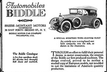 Biddle Motor Car Ads / The Biddle was a luxury car manufactured in Philadelphia, PA from 1915 to 1922 by the Biddle Motor Car Company.
