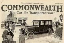 "Commonwealth Motor Co. Car Ads / The slogan of the company was ""The Car with a foundation"", which was in reference to the build quality, including such parts as the frames lined with thick felt to prevent squeaks, chrome nickel alloy steel, and five-inch channel sections. The company produced four passenger open cars and five passenger closed-body cars. In 1919, the company tried a six-cylinder car with 25.3 hp called the Victory Six Tour."