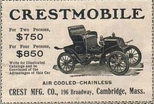 Crestmobile Car Ads / The 1904 Crestmobile was a touring car model, notable for its removable tonneau. With the tonneau in place, it could seat 4 passengers and sold for $850. The vertical-mounted single-cylinder engine, situated at the front of the car, produced 7 hp (5.2 kW). A 2-speed sliding transmission was fitted. The tubular-framed car weighed 930 lb (422 kg). It was similar in construction to the contemporary Covert.