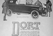 Dort Motor Car Company Ads / The Dort was an automobile built by the Dort Motor Car Company of Flint, Michigan from 1915 - 1924. Dort used Lycoming built engines to power their vehicles. Dort continued manufacturing cars until 1924, when the mounting price of development and distribution of the vehicles made it impossible to compete in the automotive markets of the 1920s. Josiah Dallas Dort's death in 1923 sealed the fate of Dort Motors.