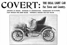 Covert Car Ads / B. V. Covert and Company was a manufacturer of automobiles in Lockport, New York from 1901 to 1907. The company started as a manufacturer of steam-powered cars, but later switched to gas-powered vehicles. Some Coverts were exported to England as Covert-Jacksons.