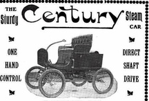 Century Motor Vehicle Co. Car Ads / The Century Motor Vehicle Company, Syracuse, NY, was a great name for the new century and plans were made to build automobiles of all types of motor power. Five men were the founders that included Charles F. Saul, Charles Listman, Charles A. Bridgman, Hiram W. Plumb, and William W. Wagoner. Vangoner had made its protype in 1899. The new steam and electric protypes were finished in 1900 and were put into production in early 1901.