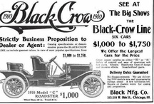 Black Crow Motor Car Ads / Black Crow automobiles were manufactured from 1909-1911 by the Crow Motor Car Company in Elkhart, Indiana and sold by the Black Motor Company