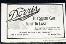 Dorris Motor Car Co. Ads / The Dorris Motor Car Company was founded by George Preston Dorris in 1906. Born in Nashville, Tennessee, Dorris had built an experimental gasoline car circa 1896-1897 in his family's bicycle shop. He relocated to St. Louis, Missouri, where he joined with John L. French to found the St. Louis Motor Company. Dorris served as chief engineer.