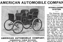 "American Automobile Co. Ads / The American was an American automobile designed by Frank Duryea and manufactured by the American Automobile Company of New York City in 1899. It was a ""hydro-carbon carriage"" which could be started from the seat by its chain-and-sprocket gearing. In 1900, The name was changed to Gasmobile and was in business until 1905."