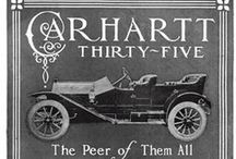 Carhartt Car Ads / Hamilton Cathartt, clothing manufacturer in Detroit, decided to build automobiles in 1911 and incorporated his Carthartt Automobile Corporation in March of that year. It was in production by August with several models on a single chassis that offered 25 hp and 35 hp. His model numbers were trimmed in 1912, but increased horsepower and another chassis. Not very many were known to have been made before he decided that the clothing business wasn't so bad after all.