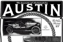Austin Automobile Company / The Austin was a brass era American automobile manufactured in Grand Rapids, Michigan from 1901 to 1921. The company, founded by James E. Austin and his son Walter Austin, built large, expensive and powerful touring cars with an unusual double cantilever rear spring arrangement placing the rear wheels behind (sometimes well behind) the passenger compartment, for a longer wheelbase to improve rider comfort in an era of rough roads as well as a unique two-speed rear axle.
