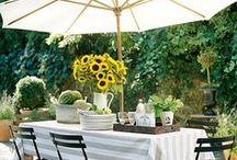 *garden: outdoor living / gartenplätze zum kochen, essen, entspannen...