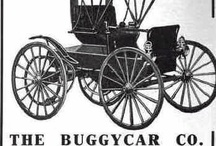 "Buggycar Ads / The Buggycar was built with a two cylinder air-cooled engine under the seat rated at 14 horsepower according to the advertisements. Final drive to the rear axle was by cable and the vehicle was equipped with solid rubber tires. Motor Age also reported for 1909 The company will make improvements with an 18 horsepower friction-drive car with only three working parts and equipped with 36 and 38-inch artillery ""wheels with solid rubber or cushion tires."