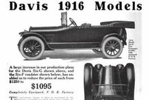 Davis Motor Car Co. Ads / The George W. Davis Motor Car Company made Davis brand automobiles in Richmond, Indiana from 1908 to 1929.