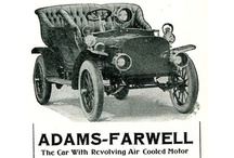 Adams-Farwell Automobile Ads / Adams-Farwell was a brass era American automobile from Dubuque, Iowa, built by The Adams Company (founded 1892, still active) between 1905 and 1912. National Automobile Museum in Reno, Nevada owns the last existing Adams-Farwell automobile, a Series 6 40/45 hp Touring Victoria, coachbuilt by the Connolly Carriage & Buggy Company, probably of Dubuque