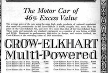 Crow-Elkhart Car Ads / The Crow-Elkhart was an American automobile manufactured from 1909 until 1924 by the Crow-Elkhart Motor Company of Elkhart, Indiana founded by Martin E. Crow. The company manufactured both four and six cylinder models. After World War I, Crow-Elkhart used Gray victory engines in some of its cars.