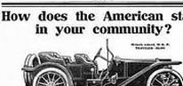 "American Motor Car Co. Ads / The American Motor Car Company was a short-lived company in the automotive industry founded in 1906, lasting until 1913. It was based in Indianapolis, Indiana, United States. The American Motor Car Company pioneered the ""underslung"" design."