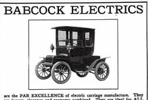Babcock Electric Car Ads / The Babcock Electric Carriage Company was an early 20th century United States automobile company, making electric vehicles under the Babcock brand from 1906 through 1912. The company was founded by and named after Francis A Babcock and based in Buffalo, New York. They offered a range of electric motocars at prices ranging from $1,800 to $3,800. In 1912 Babcock merged with the Buffalo Electric Vehicle Company.