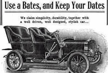 Bates Car Ads / The Bates was an automobile manufactured in Lansing, MI by the Bates Automobile Company from 1903-05. The Bates was the brainchild of M.F. Bates, who was vice-president of the company. The company was organized on May 27, 1903. They started out producing a single cylinder runabout and later produced a few two-seater cars with four-cylinders. Four-seater tourer cars were also produced costing $2,000. In all, a total of about 25 cars were produced.
