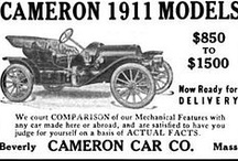 Cameron Car Ads / The Cameron was an automobile manufactured by the Cameron Car Company of Rhode Island from 1902 to 1906, then in Brockton, Massachusetts from 1906 to 1908, then in Beverly, Massachusetts from 1909 to 1915, Norwalk, Connecticut in 1919, and finally in Stamford, Connecticut in 1920. No cars were produced from 1915 to 1918. The company made two-, four-, and six-cylinder models.