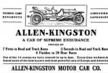 "Allen-Kingston Car Ads / The Allen Kingston was an American automobile manufactured by the New York Car & Truck Company for motor agent Walter C. Allen of New York City. The car was designed on European lines, featuring runningboard-mounted spare tires and an early boat-tailed body, but was meant for American manufacture to circumvent the 45% duty on imported cars. These 45 hp 7400 cc cars were advertised as combining ""the best features of the Fiat, the Renault and the Mercedes"
