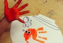 Handprint + Footprint Art / Untuk berbagi ide dan kreasi seru lainnya yuk kunjungi www.galeriakal.com Mam!