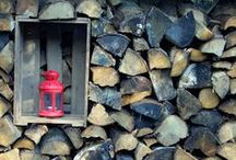 firewood: creative storage / brennholz- schön gestapelt!
