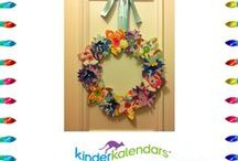 """kinderKALENDARS® Twelve Days of Crafting / kinderKALENDARS® pays homage to the classic holiday carol 'The Twelve Days of Christmas"""" with """"The Twelve Days of Crafting.""""  Each day we wil introduce a simple craft to do with children ages 3 to 10 using pages from your kinderKALENDAR.  It's a fun & """"green"""" way to repurpose your calendar sheets! #DIYcrafts #crafts #crafting #craftprojectsforkids #preschool #kindergarten #educationalprojects #calendars #foreignlanguage #bilingualism #2014calendars"""