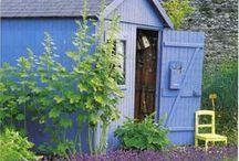 *garden: shed & potting bench / kleine gartenhütten, geräteschuppen & pflanztische