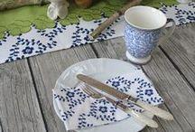 natural table setting/ floral decor /  tischdeko & blumige ideen