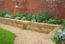 *garden: beams & railway sleepers / gartengestaltung mit holzschwellen