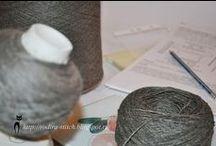 Вязание.Процессы, образцы, пряжа. / Провязка образцов, фото процессов и пряжное пополнение