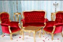 Fauteuil baroque rouge : vente ou location / Fauteuils et Trônes d'exception pour un mariage oriental, mais aussi pour Noël, sur un plateau Télé ou lors d'une séance photos pour une Touch'Glam! Tous nos trônes et fauteuils sont disponibles à la location mais aussi à la vente. Plus d'infos : decoprive@gmail.com