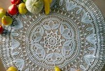 crochet, knitted doilies