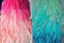 "Colorful Hair Extensions& Hair Colors / Colorful hair inspiration & trends, pink, blue, purple, colored hair extensions ideas all can be found on http://blog.vpfashion.com/blog Get $10 off with Coupon code: ""pinterest"" <3"