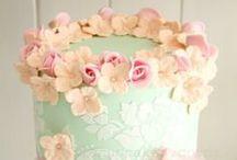 cakes-blue / romantic cakes, wedding cakes....blue, mint, turquoise, aqua