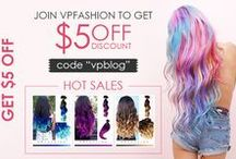 "Love Vpfashion, Love Discount~ / Newest discount activities of Vpfashion. Colorful hair inspiration & trends, pink, blue, purple, colored hair extensions ideas all can be found on http://blog.vpfashion.com/blog Get $10 off with Coupon code: ""pinterest"" <3"