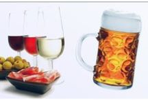 Bebidas: Cervezas, vinos. / Cervezas y vinos.