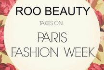 Roo Beauty takes on PARIS FASHION WEEK / We have gone globe-trotting! Look at all the fabulous techs using our Roo Beauty products at Paris Fashion Week SS16