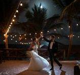 First Dance / Bride and groom first dance, wedding reception, wedding photography, destination wedding photographer, night shot