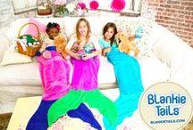 Mermaid Blankets & Shark Blankets / Blankie Tails Mermaid and Shark Blankets available of www.blankietails.com