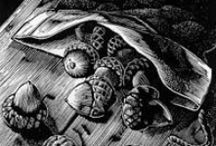 Wood engraving / Examples of the printmaking technique of wood engraving