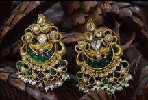 Kundan Jewellery / Collection of kundan jewellery earrings, necklaces, pendants etc.