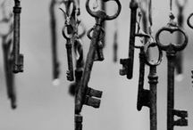 Key to My Heart / I've always been fascinated by old keys. The doors they must have opened. The secrets they locked away. I think my heart is locked with a key like these. Old and worn smooth from so many hands attempting to learn my secrets. Only one hand has the right to hold that key...