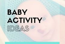 Baby Activity Ideas Infants (Parenting Hacks) / Do you wonder what activities you can do with your new baby? Would you like some inspiration on the types of baby activities you can do at home? Here are lots of baby activity ideas for you to do with your infant.