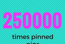 250.000 times pinned pins / Everything which is pinned over 250000 times